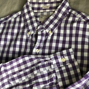 Slim-fit Men's M J.Crew LS Shirt - Purple & White
